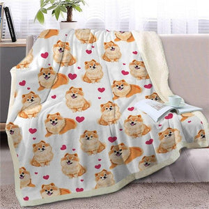 Infinite Shiba Inu Love Warm Blanket - Series 1Home DecorPomeranianMedium