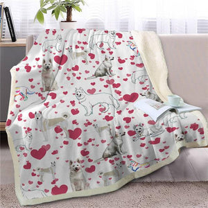 Infinite Shiba Inu Love Warm Blanket - Series 1Home DecorSamoyedMedium