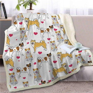 Infinite Shiba Inu Love Warm Blanket - Series 1Home DecorShiba InuMedium