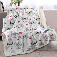 Load image into Gallery viewer, Infinite Shiba Inu Love Warm Blanket - Series 1Home DecorShih TzuMedium