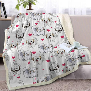 Infinite Shiba Inu Love Warm Blanket - Series 1Home DecorShih TzuMedium