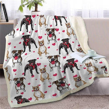Load image into Gallery viewer, Infinite Shiba Inu Love Warm Blanket - Series 1Home DecorStaffordshire Bull TerrierMedium
