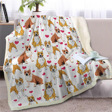Load image into Gallery viewer, Infinite Staffordshire Bull Terrier Love Warm Blanket - Series 2Home DecorAmerican Pitbull TerrierMedium