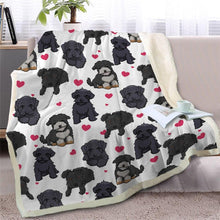 Load image into Gallery viewer, Infinite Staffordshire Bull Terrier Love Warm Blanket - Series 2Home DecorBlack Furry DogMedium