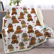Load image into Gallery viewer, Infinite Staffordshire Bull Terrier Love Warm Blanket - Series 2Home DecorCocker Spaniel - Option 2Medium