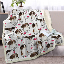 Load image into Gallery viewer, Infinite Staffordshire Bull Terrier Love Warm Blanket - Series 2Home DecorEnglish Springer SpanielMedium