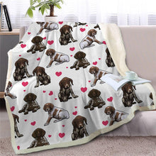 Load image into Gallery viewer, Infinite Staffordshire Bull Terrier Love Warm Blanket - Series 2Home DecorGerman Shorthaired PointerMedium