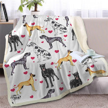Load image into Gallery viewer, Infinite Staffordshire Bull Terrier Love Warm Blanket - Series 2Home DecorGreat DaneMedium