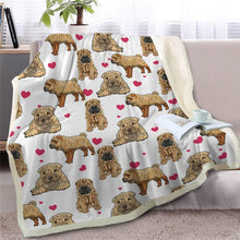 Load image into Gallery viewer, Infinite Staffordshire Bull Terrier Love Warm Blanket - Series 2Home DecorShar PeiMedium