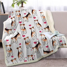 Load image into Gallery viewer, Infinite Staffordshire Bull Terrier Love Warm Blanket - Series 2Home DecorWire Fox Terrier - Option 2Medium