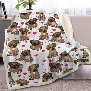 Infinite Vizsla Love Warm Blanket - Series 1Home DecorBlack Mouth CurMedium
