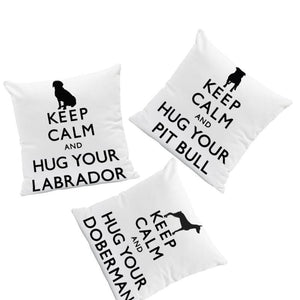 Keep Calm and Hug Your Pit Bull Cushion CoverCushion Cover