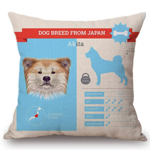 Know Your Akita Cushion Cover - Series 1Home DecorOne SizeAkita