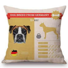 Load image into Gallery viewer, Know Your Bordeaux Mastiff Cushion Cover - Series 1Home DecorOne SizeBoxer