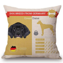 Load image into Gallery viewer, Know Your Doberman Cushion Cover - Series 1Home DecorOne SizeGreat Dane