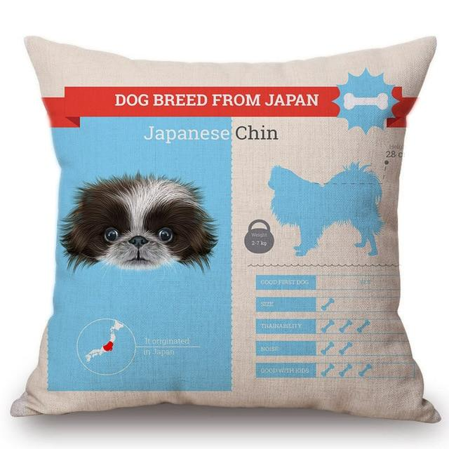 Know Your Japanese Chin Cushion Cover - Series 1Home DecorOne SizeJapanese Chin