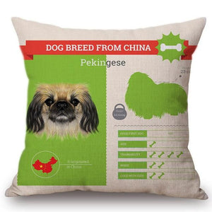 Know Your Japanese Chin Cushion Cover - Series 1Home DecorOne SizePekingese