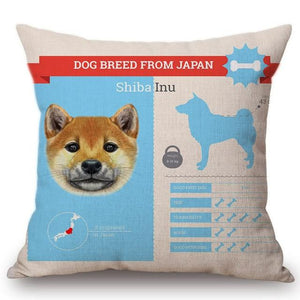 Know Your Japanese Chin Cushion Cover - Series 1Home DecorOne SizeShiba Inu