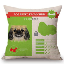 Load image into Gallery viewer, Know Your Pekingese Cushion Cover - Series 1Home DecorOne SizePekingese