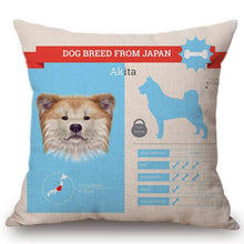 Load image into Gallery viewer, Know Your Russian Spaniel Cushion Cover - Series 1Home DecorOne SizeAkita