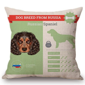 Know Your Russian Spaniel Cushion Cover - Series 1Home DecorOne SizeRussian Spaniel