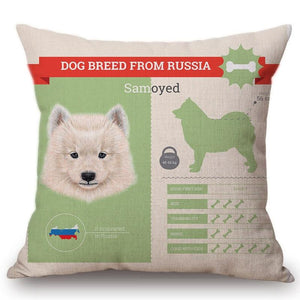Know Your Russian Spaniel Cushion Cover - Series 1Home DecorOne SizeSamoyed