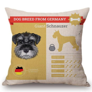 Know Your Schnauzer Cushion Cover - Series 1Home DecorOne SizeSchnauzer