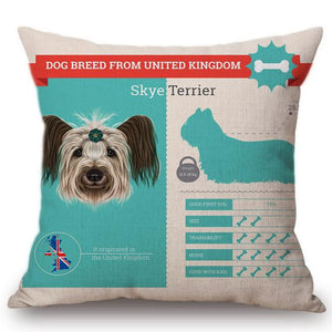 Know Your Schnauzer Cushion Cover - Series 1Home DecorOne SizeSkye Terrier