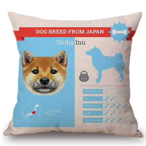 Know Your Shiba Inu Cushion Cover - Series 1Home DecorOne SizeShiba Inu