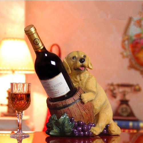Labrador / Golden Retriever Love Resin Wine Bottle HolderHome Decor