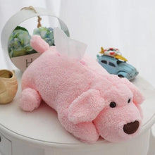Load image into Gallery viewer, Labrador Love Soft Tissue BoxHome DecorPink