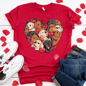Labrador Love Womens Cotton T ShirtT shirt