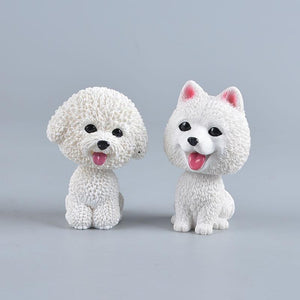Love Bichon Frise Car Bobble HeadCar Accessories