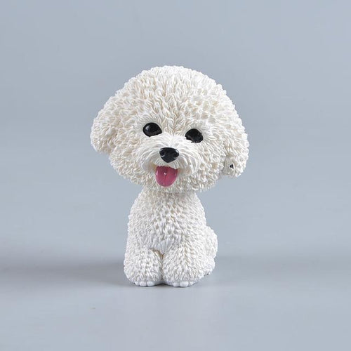 Love Bichon Frise Car Bobble HeadCar AccessoriesBichon Frise