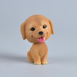 Love Bichon Frise Car Bobble HeadCar AccessoriesLabrador - Yellow Brown