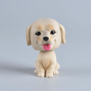 Love Mini Schnauzer Car Bobble HeadCarLabrador - Light Yellow