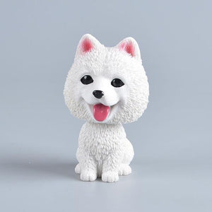 Love Pugs Car Bobble HeadCarAmerican Eskimo Dog / Pomeranian / Samoyed / Spitz