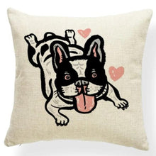 Load image into Gallery viewer, Mauve Quilted Corgi Pattern Cushion Cover - Series 7Cushion CoverOne SizeFrench Bulldog - White Background