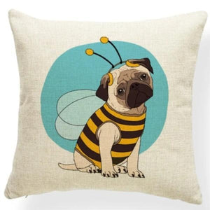 Mauve Quilted Corgi Pattern Cushion Cover - Series 7Cushion CoverOne SizePug - Bumble Bee