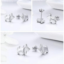 Load image into Gallery viewer, Mini Schnauzer Love Silver Earrings Earring bamoer