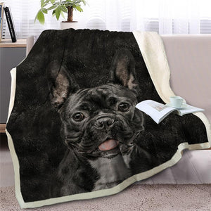 Mini Schnauzer Love Soft Warm Fleece BlanketBlanket