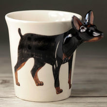 Load image into Gallery viewer, Miniature Pinscher Love 3D Ceramic CupMug