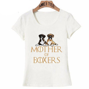 Mother of Boxers Womens T ShirtApparelWhiteS