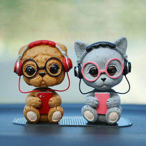 Music Pug and Friends Car BobbleheadsCar Accessories