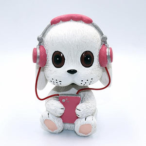 Music Pug and Friends Car BobbleheadsCar AccessoriesBunny