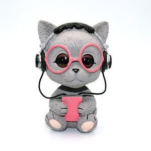Music Pug and Friends Car BobbleheadsCar AccessoriesCat
