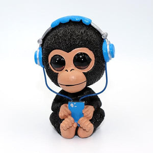 Music Pug and Friends Car BobbleheadsCar AccessoriesMonkey