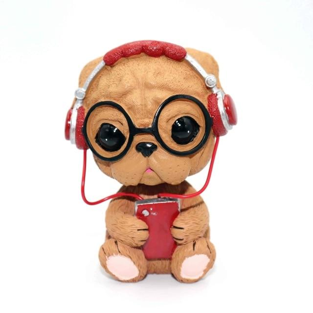 Music Pug and Friends Car BobbleheadsCar AccessoriesPug puppy