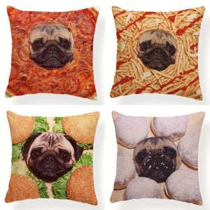 My Pug Loves Grub Cushion CoversCushion Cover
