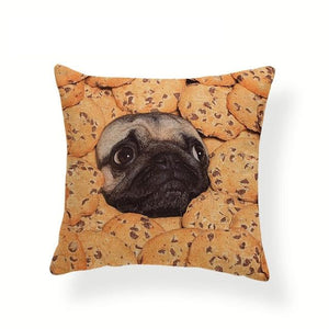 My Pug Loves Grub Cushion CoversCushion CoverOne SizeCookies Pug
